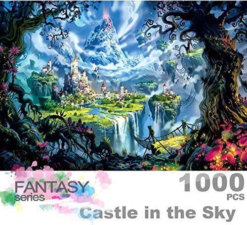 Ingooood- Jigsaw Puzzle 1000 Pieces- Fantasy Series- Castle in The Sky_IG-0452 Entertainment Wooden Puzzles Toys