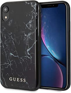 CG Mobile Guess Phone Case for iPhone Xs Max Hard Case PC/TPU Marble Design Black   Easy Snap-On   Drop Protection Case   ...