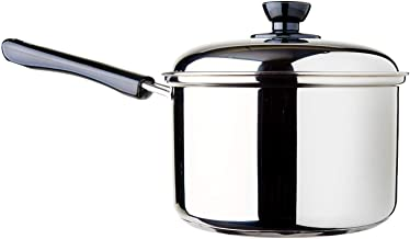 Dolphin Collection DXS018 Stainless Steel Saucepan, 3.05L (Sandwich Base)