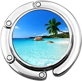 Gancho para Bolso Plegable ANSE Lazio Beach Praslin Island Seychelles Ganchos para Bolso Gancho para Mesa Plegable Soporte...