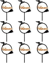 CLISPEED Funny Halloween Cake Toppers Cupcake Toppers Halloween Cake Wrapper Decoration for Halloween Party Birthday Decor...