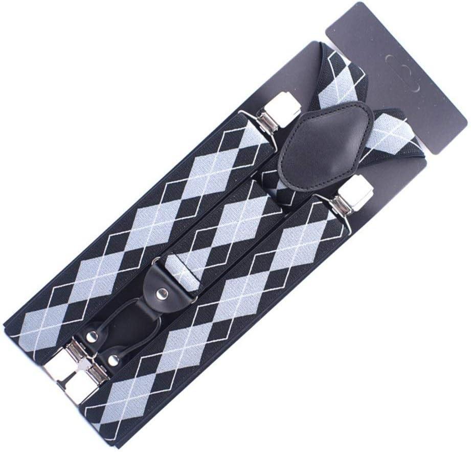 Canvas Belt Fashion Y-Back Adjustable Bib Strap Suspenders Men's (Color : H)