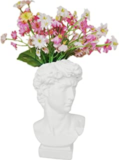 Creation Core Indoor Outdoor Heads Planter Resin Succulent Planter Vase Greek Statue Planter Urn Home Garden Decor Sculpture 6.7