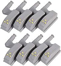 HONGCI Universele kastbewegingsmelder, LED, bewegingsmelder, LED, nachtlampje, kledingkast, scharnier, LED-verlichtingssys...