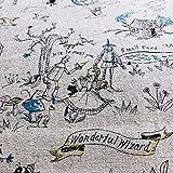 Baumwoll-Leinenmischung – Zauberer von Oz Grau NU185 –