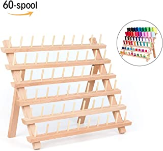 Wooden Thread Rack Sewing and Embroidery Thread Holder Sewing Organizer-60 Spool