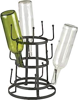 Esschert Design Essiccatore Di Bottiglie C2074,Acciaio Inossidabile,Metallo Metallo nero
