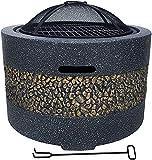 BDRSLX Fire Pit, Legno Burning Barbecues, BBQ. Firebowl, griglia per Barbecue di Carbone, griglia del Barbecue del Fumatore, BBQ. Grill Pit Bowl.