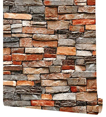 """Denver Mall 17.7""""×393"""" Stone Challenge the lowest price of Japan ☆ Peel and Wallpaper Rock Stick Wall"""