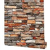 Papel pintado de piedra para pegar y pelar papel pintado de roca en 3D, papel pintado de piedra, papel pintado de ladrillo, autoadhesivo, extraíble, papel de contacto de piedra, papel de contacto de...