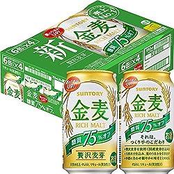 【新ジャンル/第3のビール】新・サントリー 金麦 糖質75% オフ [ 350ml×24本 ]
