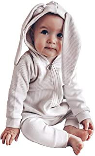 Kids Baby Long Sleeve Romper Motionless-in-White Unisex Cotton Cute Jumpsuit Baby Crawler Clothes