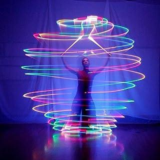 wannabuy® 1par LED Poi Thrown bolas para profesional danza del vientre nivel mano Props