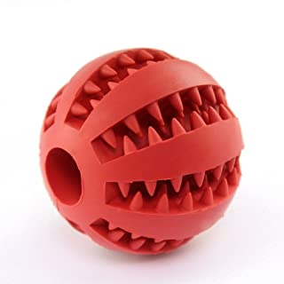 GZQ Dog Ball Toy,Nontoxic Bite Resistant Rubber Toy Balls,Chew Training Tooth Cleaning Ball