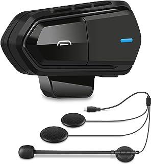 SETHDA バイク インカム マイク Bluetooth 5.0 薄型 FMラジオ機能 HI-FI音質 Siri/S-voice バイク用インカム バイク無線機 日本語説明書 B35 1人用 black