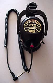 Sun Ray Pro Gold Headphones for Metal Detectors with extra switch mode for Minelab CTX Metal Detector