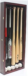 Pro UV 5 Baseball Bat Display Case Holder Rack Wall Cabinet, Horizontal/Vertical B55