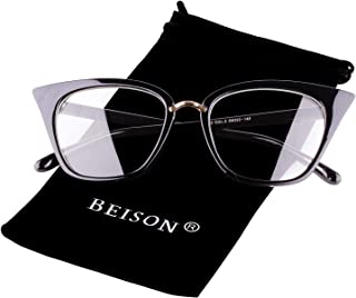 Beison Womens Cat Eye Mod Fashion Eyeglasses Frame Clear...
