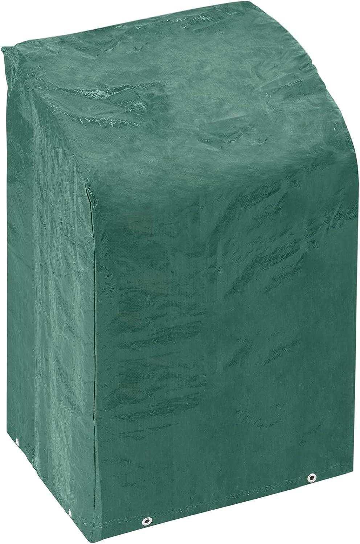 PrimeMatik - Funda Protectora Impermeable para sillas apiladas 83x123x65cm