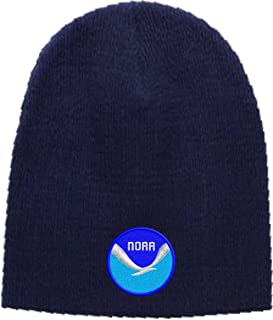 Beanie Hat NOAA Logo Embroidered Skull Cap Available in 5 Colors