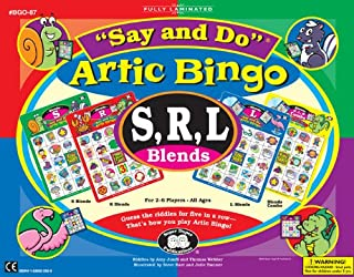 Super Duper Publications Say and Do Artic Bingo Sound Game S, R, L Blends Educational Learning Resource for Children