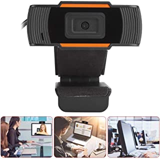 HD 720P PC Camera, Built-in Microphone Camera 30FPS USB2.0 Video Conference Webcam Support Video Call, Conference, Online Study for Laptop Desktop Live Webcam Streaming Video Camera(Black)