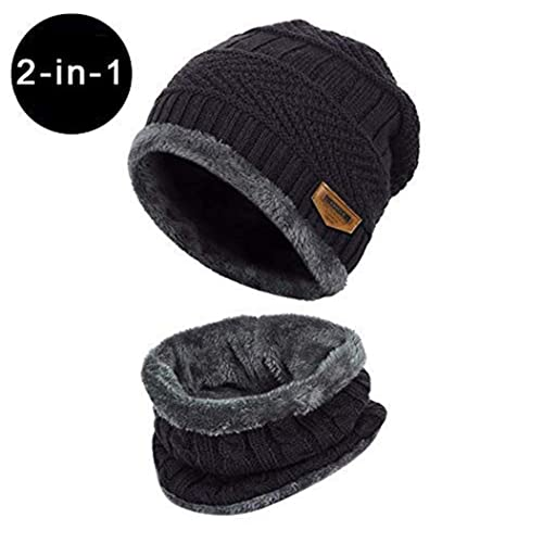 d236fed5 Unisex Winter Outdoor Windproof Thermal『 Hat Scarf Set 』Thick Ski Cap  Beanie Winter Neck