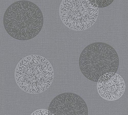 A.S. Création Vliestapete Happy Spring Tapete 10,05 m x 0,53 m grau Made in Germany 347713 34771-3