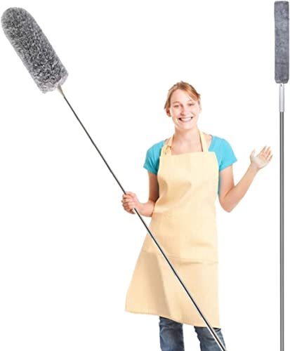 Feather Duster for Home,Household Cleaning Set, Ceiling Fan Duster with Extension Pole, Gap Dust Cleaning Artifact wi...