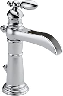Delta Faucet Victorian Single-Handle Waterfall Bathroom Faucet with Metal Drain Assembly, Chrome 554LF