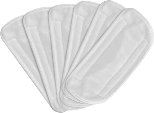 high quality Secura 6 Pack Microfiber Mop Pads, Replacement popular Washable Cleaning 2021 Pads for EM-516 (White) sale