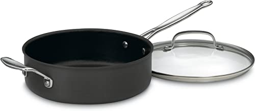 high quality Cuisinart wholesale 633-30H online Chef's Classic Nonstick Hard-Anodized 5-1/2-Quart Saute Pan with Helper Handle and Lid outlet online sale