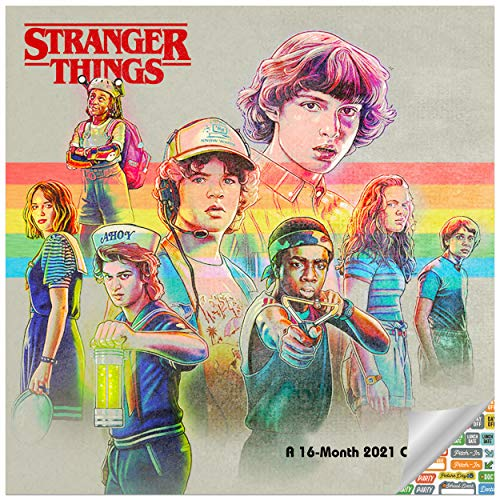 Stranger Things Calendar 2021 Bundle - Deluxe 2021 Stranger Things Wall Calendar with Over 100 Calendar Stickers (Stranger Things Gifts, Office Supplies)
