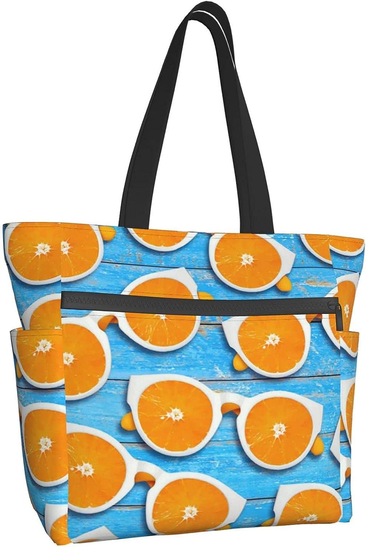 Women 5 ☆ very popular Tote Bag Aesthetic Summer Glasses Shoulder Selling and selling Orange Handbag