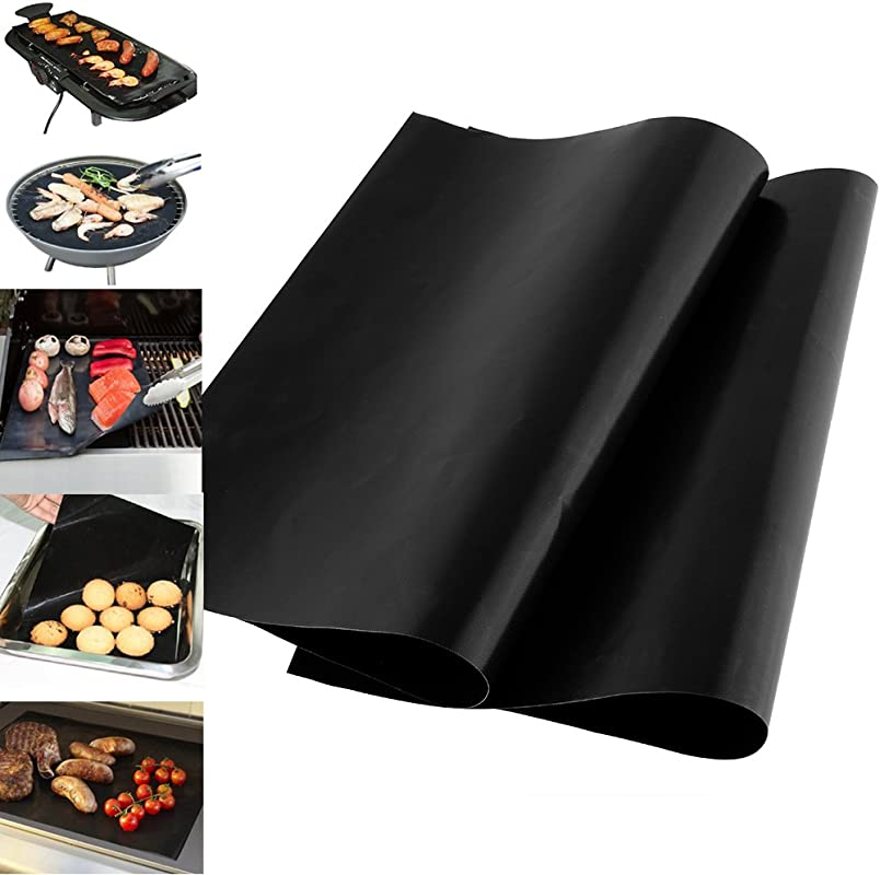 BBQ Grills 1pcs Reusable Nonstick Surface Bbq Grill Mat Baking Sheet Plate Easy Clean Grilling Picnic Camping Accesories Trailer Portable Clearance Smoker Pontoon Small Smokers Charcoal Kid