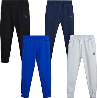 RBX Boys' Sweatpants - Active Joggers Warm-Up Track Pants (4 Pack), Size 8, Heather Grey/Navy/Blue/Black