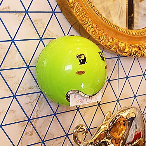 Rollenhalter Toilettenpapierhalter Kreative Wasserdichte Toilettenkarton Handtuchhalter Rollenpapier Box Tray Toilettenpapierständer Papierhandtuchhalter Tapeten Badezimmer-Grün