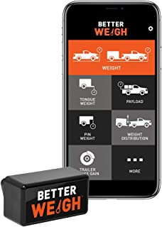 CURT 51701 BetterWeigh Mobile Towing Scale with TowSense Technology (OBD-II) Apple, Android Smartphones, Tongue, GCW, Weight Distribution