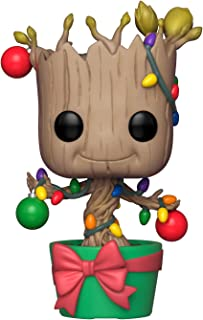 Funko Pop: Marvel: Holiday Groot con Lights & Ornaments (Bobblehead) Figura de Vinilo, Multicolor (33982)