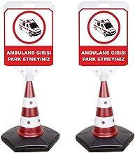 Reklamediyoruz Ambulans Girişi Park Etmeyiniz Yazılı Uyarı Dubası (3 adet)
