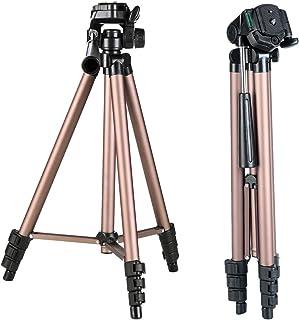 三脚 一眼レフ K&F Concept 三脚 4段 軽量 コンパクト 3WAY雲台 アルミ製 レバーロック クイックシュー式 デジタルカメラ ビデオカメラ 一眼レフ用 三脚ケース付き 折り畳み可能 運動会 登山 トラベル用 KF-TL20231 …