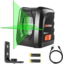 Lomvum Self-Leveling Laser Level 100FT Green Vertical Horizontal Cross Line Laser Level -visible in sunshine, DIY line Laser Portable min Outdoor Laser Leveler
