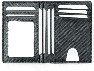 Card Holder for Men, Reayouth RFID Blocking Wallet Slim Wallet Front Pocket Security Travel Credit Card Holder (Carbon Fib...
