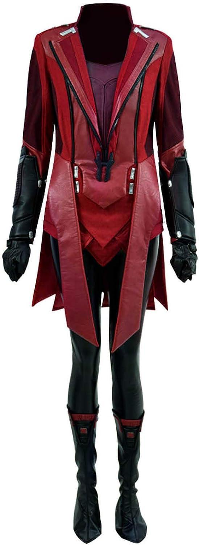 Yewei Damen Held Heier Comic Film Kostüm Wanda Witch Rot Halloween Kostüm Outfit