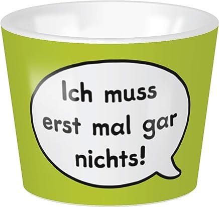 Preisvergleich für Sheepworld - 45378 - Eierbecher, Schaf, Ich muss erst mal gar nichts!, 4cm x 5cm, Porzellan, spülmaschinengeeignet