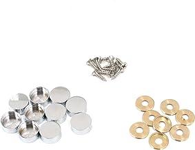 """Tulead 0.75""""x0.31"""" Mirror Nails Decorative Screw Cap Covers Copper Cap Mirror Nail Cover Screw Fasteners Hardware Nail Cov..."""