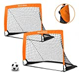 """Dimples Excel Portable Football Goal Instant Set-Up, Easy Fold-Up, 40""""x29""""x30"""", Set of 2"""
