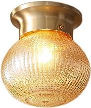 Creative Small Copper Ceiling lamp Multi-Function Indoor Lighting Bedroom Corridor Glass Ceiling lamp, 14cm*18cm