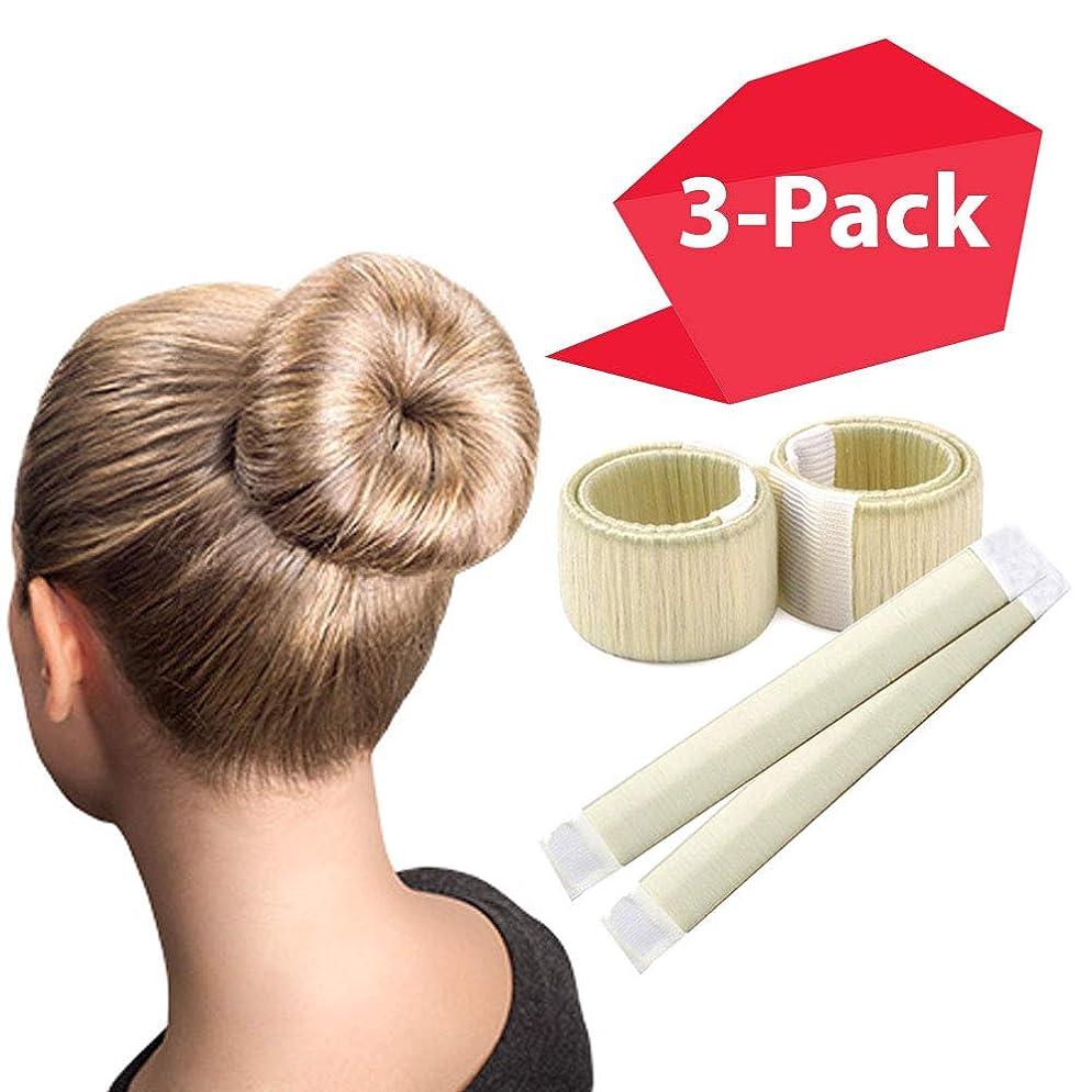 Blonde Magic Bun Makers 3-PACK   The NEW way to Donut Your Hair   Perfect Hair Bun Maker   Hair Donuts for Updos   Easy Bun Hair Tool   Kids Ballerina Bun   Bun Shaper   Bun Hair Tool   Bun Donut