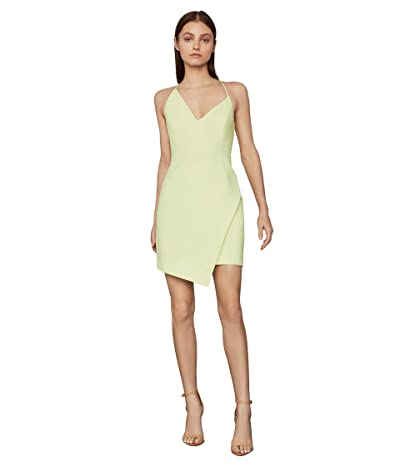 BCBGMAXAZRIA Asymmetrical Hem Cocktail Dress (Lime Sherbet) Women